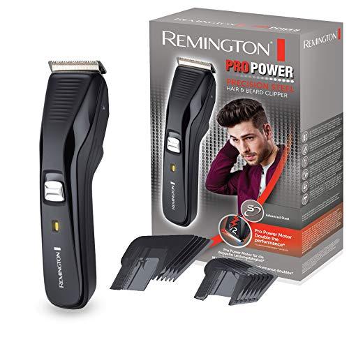 Remington Haarschneidemaschine Pro Power HC5200, ProPower-Motor mit 300 mm/s Schnittgeschwindigkeit, 2 Aufsteckkämme, Haarschneider, schwarz - Remington Haarschneider