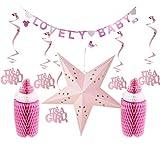 SUNBEAUTY Babyparty Mädchen Dekoration It's A Girl Lovely Baby Taufe Deko (Rosa)