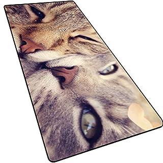 Husky Qimei HABA Dog Jinmao Akita Dog Pet Dog Pet Cat Mouse Pad Meng Meng Keyboard Desk Mat(31.5×11.8×0.12inch)