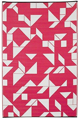 Teppich Santa (Fab Hab - Santa Cruz - Rote Beete & Weiß - Teppich/ Matte für den Innen- und Außenbereich (120 cm x 180 cm))