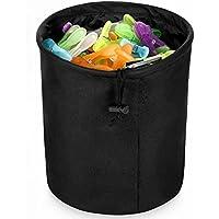 DoGeek-Bolsa para Pinzas,Resistente e Impermeable Bolsa para de la Ropa Pinzas (20 cm de Diámetro X 30 cm de Alto)(Negro)