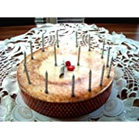 25th Silver Wedding Anniversary or Birthday Candle Silver 16 Candles and Holder As