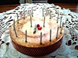 Folat Kuchenkerzen SILBER, 16 Kerzen + Halter // für Silberhochzeit oder als