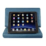 Scoolr Tablet Pillow Holder - iPad Pillow Tablet Padded Stand Sofa Book Rest Support Reading Wedge Pillow for Bed/Book/iPad/Nexus/Galaxy with Pocket (Mediterranean Blue)
