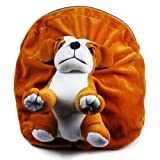 #9: Rushi Enterprise Dog Cute Teddy Soft Toy School Bag Travelling Bag Teddy Bag For Kids (Golden Brown)
