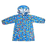 ALLLHMKS Blue Thin Hooded Raincoat Children Baby Siamese Poncho Green Wear-resistant Raincoat (color : Blue, Size : M)