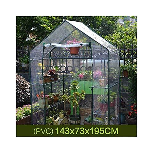 Tws isolamento da esterno in pvc da giardino a effetto serra con 8 ripiani (colore : 143 * 73 * 195cm)