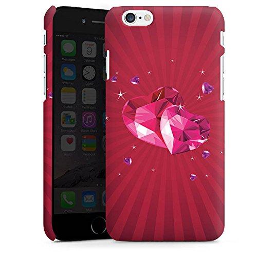 Apple iPhone X Silikon Hülle Case Schutzhülle Herz Liebe Pink Premium Case matt