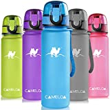 Cameloa a prova di perdite BPA free 500ml Bottiglia di acqua di sport, 481,9gram per la corsa, ginnastica, yoga, esterna e camping–Portata acqua veloce, flip top, si apre con 1-click, Blue