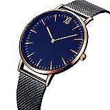 Ditracter Armbanduhren,Damen Mode Klassiker Genf Quarz Edelstahl Uhren Wrist Watch Casual Armbanduhr Uhrenarmband Mädchen Frau Uhr (Gold)