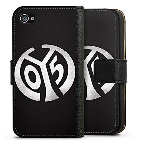 Apple iPhone 7 Hülle Case Handyhülle 1. FSV Mainz 05 e.V. Fanartikel Bundesliga Fußball Sideflip Tasche schwarz