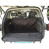 Goodid protector grueso de coche para viajar con perro, cubierta grandes de asientos y maletero 600D con vellosidades cortos