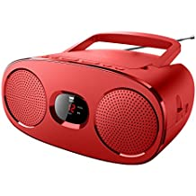 NEW One RD de 306R Radio FM estéreo con reproductor de CD (pantalla LED, AUX-IN, antena telescópica)