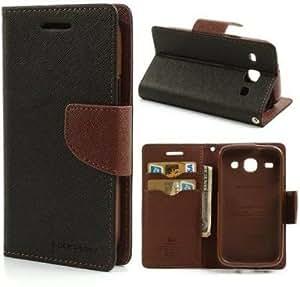 Generic Goospery Mercury Diary Flip Cover for Samsung Galaxy J7 (Brown)