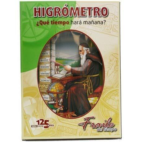 Fraile del tiempo Castellano - Sencillo higrómetro de cabello fabricado en cartón. Fraile del tiempo...