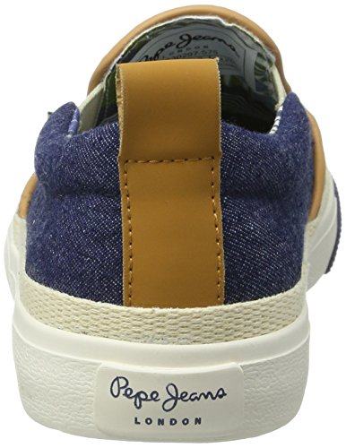 Pepe Jeans Jungen Traveler Raffia Low-Top Blau (Naval Blue)