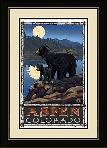 Northwest Art Mall pal-0822fgdm BLM Aspen Colorado Bear Lake, Moon Gerahmter Art Wand von Künstler Paul A. lanquist, 16von 22