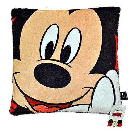 Disney 17605 Kissen, Mickey Design, 40x40cm, Rot