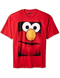 Sesame Street Elmo Big Box Face Mens T-Shirt