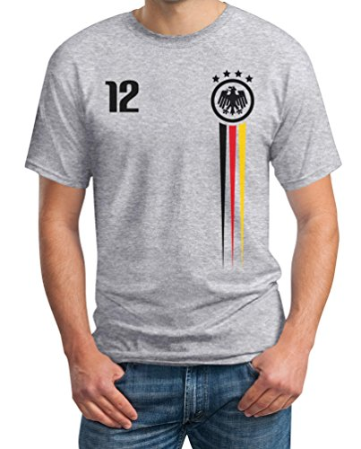 Deutschland Trikot WM Fanartikel 2018 - Fan Nationaltrikot WM Shirt T-Shirt XXXX-Large Grau