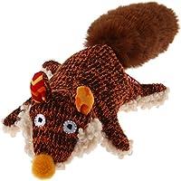 GiGwi 6234 Hundespielzeug Plush Friendz Fuchs mit Quietscher und Plüschschwanz, für kleine Hunde