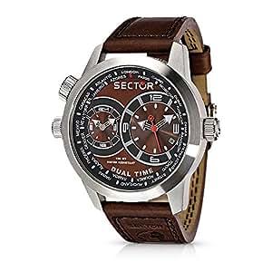 Sector - R3251102055 - Montre Homme - Quartz Analogique - Bracelet en Cuir Marron - Pack spécial avec outil multifonction