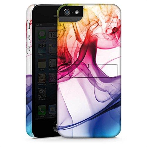 Apple iPhone 6 Tasche Hülle Flip Case Farben Bunt Nebel Premium Case StandUp