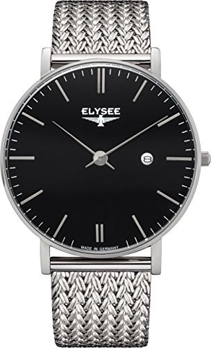 Elysee Mens Watch Analogue Quartz with Stainless Steel Wrist Band 98001M