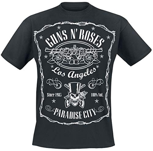 Guns N Roses Paradise City Label T-Shirt schwarz L