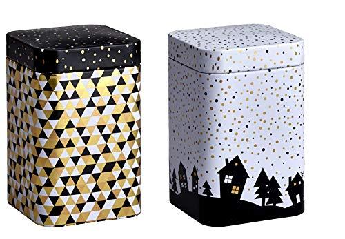 Eigenart Golden Winter 100g wunderschöne Teedosen Kaffeedosen Vorratsdose Indra 2er-Set für,...