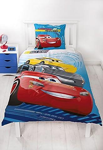 Disney Pixar Cars 3Race Ready Motif voiture enfants/Biber Parure de