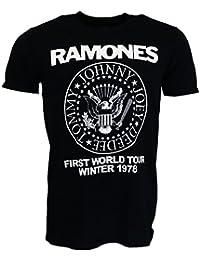 Ramones First World Tour 1978 Camiseta negro Oficial Con licencia Música
