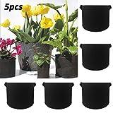 Dasongff Pflanzen Tasche, 5 Stück Tomaten Pflanzbeutel Kartoffel Pflanzsack Dauerhaft AtmungsaktivBeutel Pflanzbehälter Garten Sack für Blumen, Pflanzen Bepflanzen und Mehr