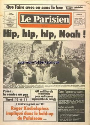 PARISIEN LIBERE (LE) [No 12041] du 06/06/1983