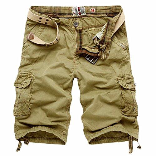 Casuali Dei Pantaloni Di Scarsita Di Sport Cargo Shorts Camo Complessive Degli Uomini Pantaloni Potati