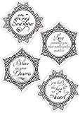 Dali Kunstdruck My Sunshine Clear Stamp mit Kreis-Design, Transparent