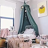 Cystyle Baby Baumwolle Betthimmel Deko Baldachin Mückennetz Moskitonetz Insekten Malaria Schutz Bett-Überdachung für Baby Kinder,Höhe 2,4m (Grün)
