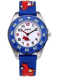 reloj infantil analógico niño niñas, relojes deportivo para niños impermeable 3D reloj de juguete de dibujos animados lindo, infantiles niñas enseñanza reloj de pulsera regalo