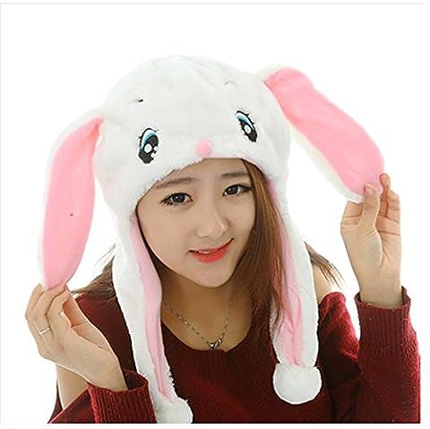 chapeau de lapin rose avec de beaux yeux cheerleaders cosplay