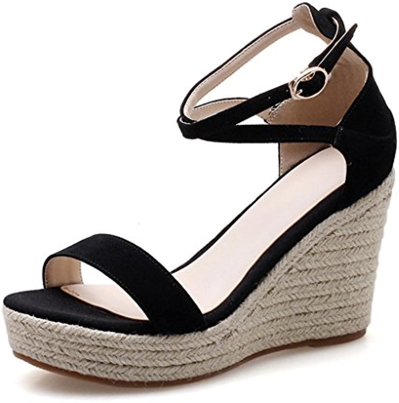 2b339da80 Sandals Sandals Sandals Elegant Black Wedge The Latest 9CM Open Toe Heels
