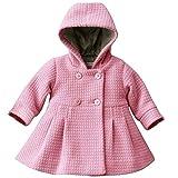 LSERVER-Baby-Mädchen Kinder Langarm Warm Baumwolle Wolle Jacke Trenchcoat Outwear Oberbekleidung Winter Mantel mit Kapuze