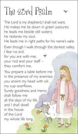 23rd Salmo–Tarjeta de oración)