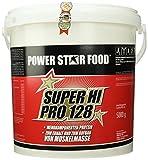 SUPER HI PRO 128, Top-Protein, 5000g Eimer mit Meßlöffel, Protein-Bestseller von höchster biologischen Wertigkeit 128, Geschmack: Vanille