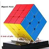 LEEEC Puzzle Speed Cube (Asistencia magnética) Cubo de Rubik 3x3 (Suave, más fácil de recuperar)