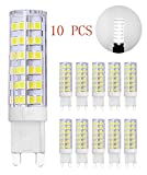 MENTA 10-Pack G9 Base 7W LED Light Bulb,Cool White 6000K 450LM, Equivalent to 60W Halogen Lamp Replacement, AC220V-240V, 360 Beam Angle