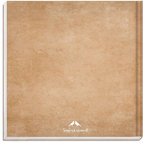 Sophies Kartenwelt Gästebuch Hochzeit - Goldfoliengeprägtes Hardcover / 144 weiße Seiten/Format: 21 x 21 cm/Hochzeitsgästebuch/Hochzeitsalbum/Hochzeitsgeschenk - 2