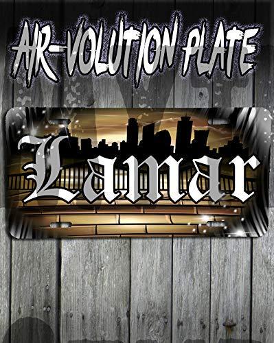 Mythic Airbrush Personalisierte Airbrush Städtische Stadt Graffiti Landschaft License Plate Tag (Stadt Tags)