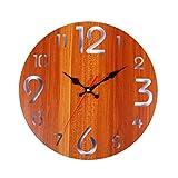 10b625459 Vintage rústico Reloj de Pared de Madera Antiguo Shabby Retro Inicio Cocina  Decoración de Habitación Cocina