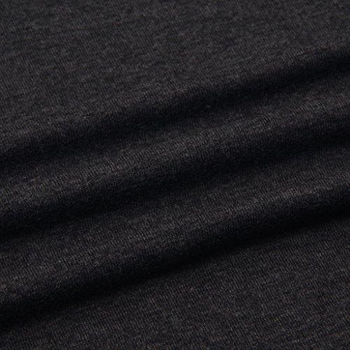 Liang Rou Damen Capri Umstands-Leggings Mini-gerippt Elastisch Figurformend Dunkelgrau