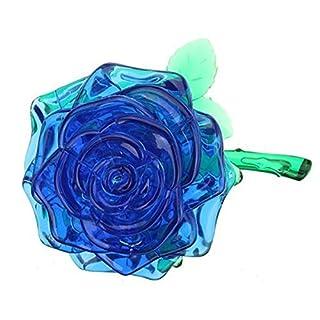 NaiCasy DIY 3D Kristall Puzzle Rose Rot/Gelb/Pink/Blau, Weihnachten Dekoration Geschenk